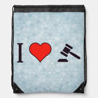 I Heart Equity Drawstring Backpack