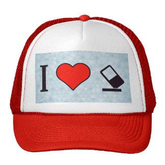 I Heart Erasers Trucker Hat