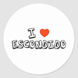 I Heart Escondido Classic Round Sticker