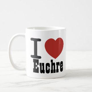 I Heart Euchre Classic White Coffee Mug