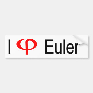 I heart Euler Car Bumper Sticker