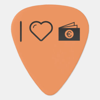 I Heart Euro Files Guitar Pick