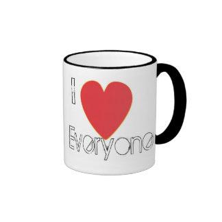 I heart everyone ringer mug
