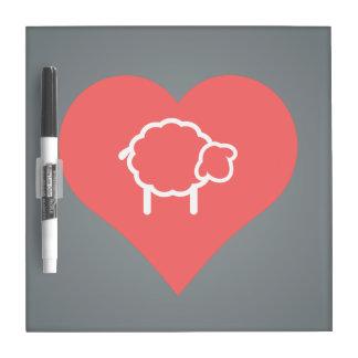I Heart Ewes Icon Dry Erase Board