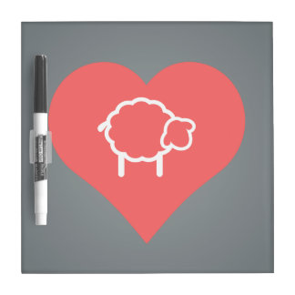 I Heart Ewes Icon Dry Erase Boards
