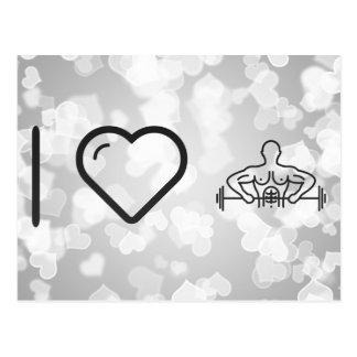 I Heart Exercisings Postcard