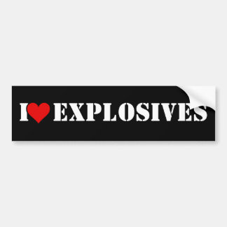 I Heart Explosives Car Bumper Sticker