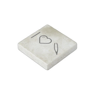 I Heart Eyebrow Removers Stone Magnet