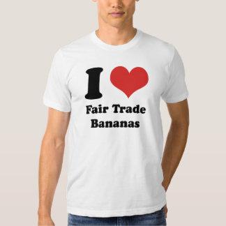 I Heart Fair Trade Bananas American Apparel Tee Shirt
