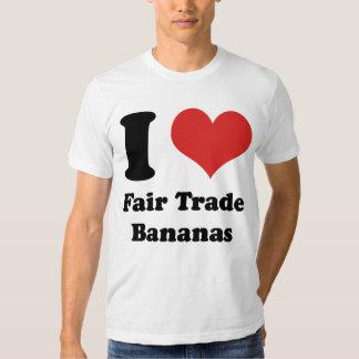 I Heart Fair Trade Bananas Basic AA T-Shirt