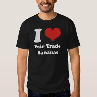 I Heart Fair Trade Bananas Basic Dark T-shirt