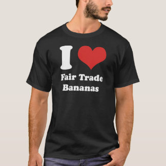I Heart Fair Trade Bananas Basic Dark T-shirt