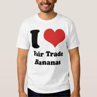 I Heart Fair Trade Bananas Basic T-shirt