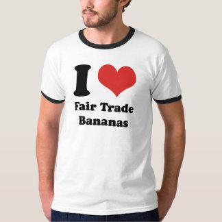 I Heart Fair Trade Bananas Ringer T-shirt