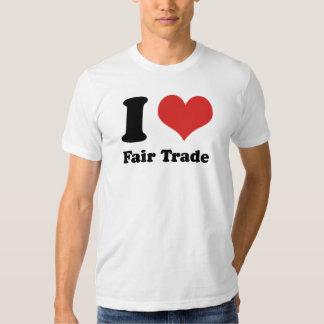 I Heart Fair Trade Basic American Apparel Shirt