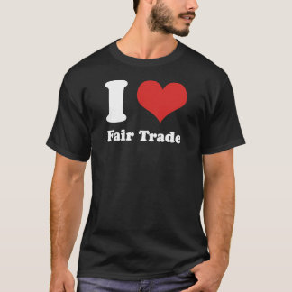 I Heart Fair Trade Basic Dark T-shirt