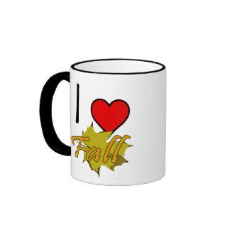 I Heart Fall With Leaf Coffee Mug