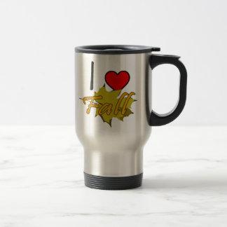 I Heart Fall With Leaf Travel Mug
