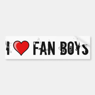 I Heart Fan Boys Bumper Stickers