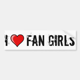 I Heart Fan Girls Car Bumper Sticker
