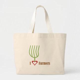 I Heart Farmers Canvas Bags