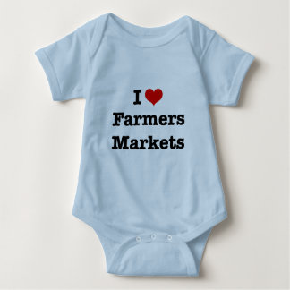 I Heart Farmers Markets Baby Bodysuit