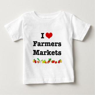 I Heart Farmers Markets Baby T-Shirt