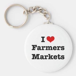 I Heart Farmers Markets Keychain