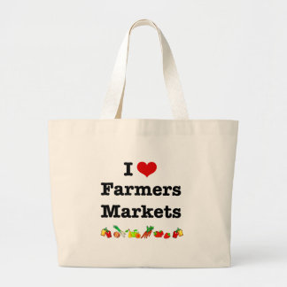 I Heart Farmers Markets Large Tote Bag