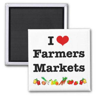 I Heart Farmers Markets Magnet