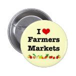 I Heart Farmers Markets Pins