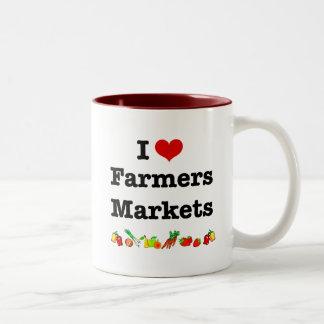 I Heart Farmers Markets Two-Tone Coffee Mug