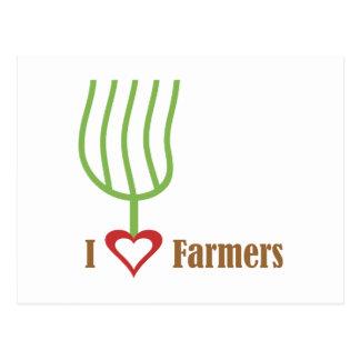 I Heart Farmers Postcard