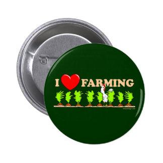 I Heart Farming 2 Inch Round Button