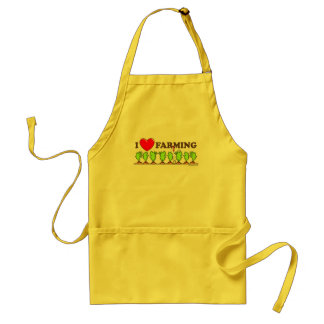 I Heart Farming Adult Apron