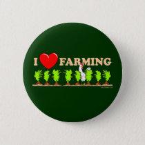 I Heart Farming Button