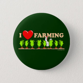 I Heart Farming Button