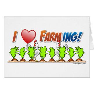 I Heart Farming Greeting Card