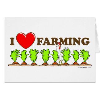 I Heart Farming Greeting Cards