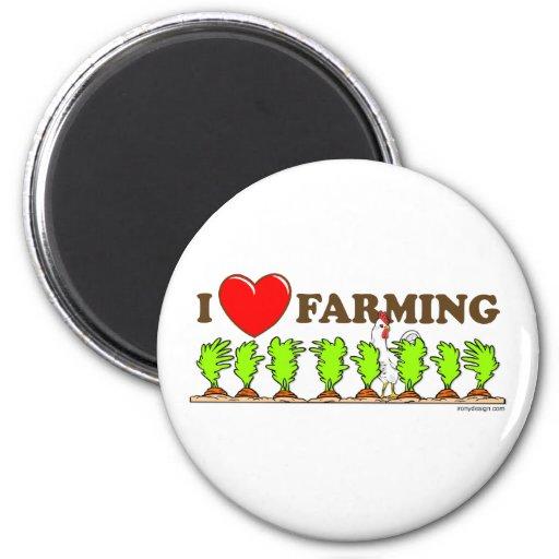 I Heart Farming Magnets
