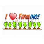 I Heart Farming Postcard