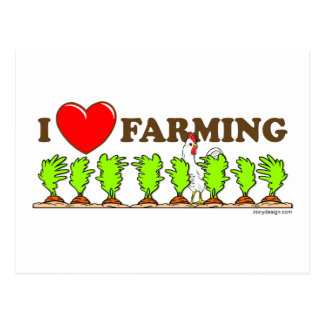 I Heart Farming Postcard