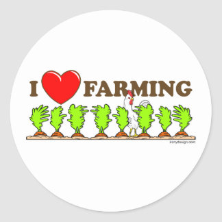 I Heart Farming Sticker