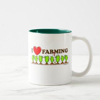 I Heart Farming Two-Tone Coffee Mug