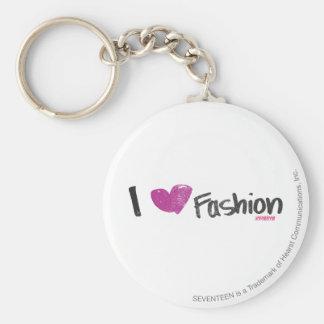 I Heart Fashion Aqua Keychain