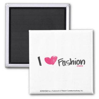 I Heart Fashion Magenta 2 Inch Square Magnet