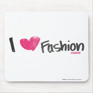 I Heart Fashion Magenta Mouse Pad