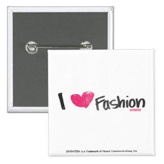 I Heart Fashion Magenta Pinback Button