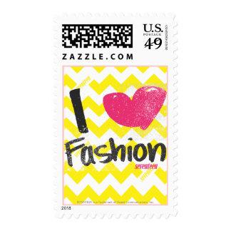 I Heart Fashion Magenta Postage Stamp
