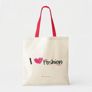 I Heart Fashion Magenta Tote Bag